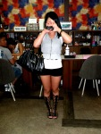 Camera-Shy Korean Lady with Gladiator Shoes